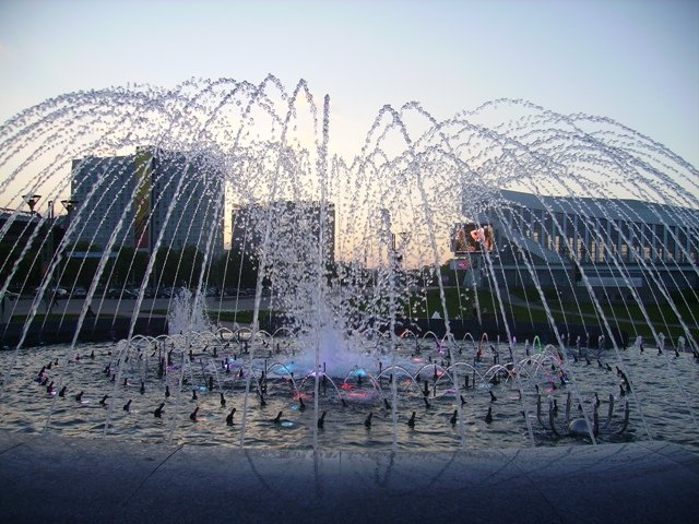 fontaine à Minsk, photo Julie Novik
